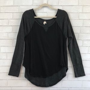 Free People Friday Feelin Tee Black Large